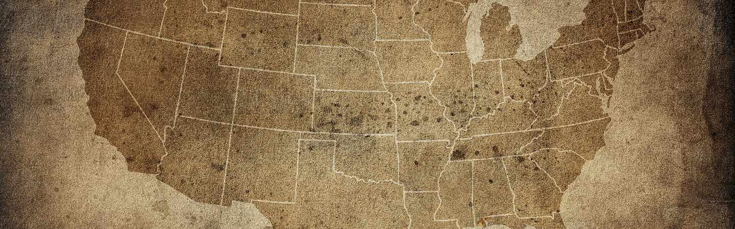Map of the United States.
