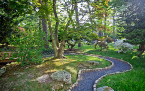 The path to the Japanese garden