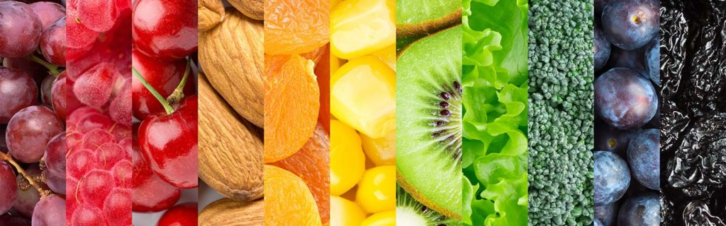 Photo of fruits, vegetables and nuts