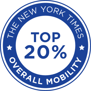 new york times top 20% overall mobility logo